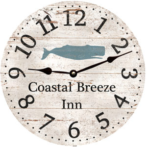 Personalized Whale Clock
