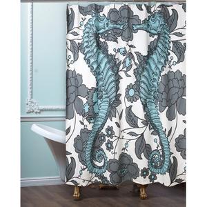 Seahorse Vineyard Shower Curtain