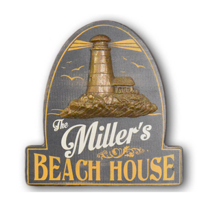 Beach House Wall Sign Personalized