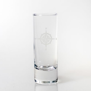 Compass Rose Cordial Glass   S/4