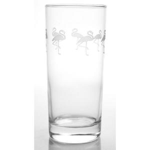 Flock of Flamingo Cooler Highball Glasses Set of 4