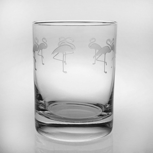 Flock of Flamingo Glasses  S/4