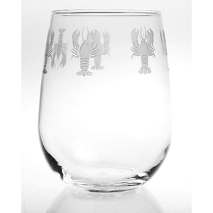 Lobster Pod Stemless Wine Glasses Set of 4