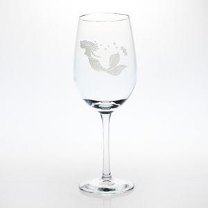 Mermaid White Wine Glasses S/4