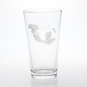 Mermaid Pint 16oz Glass Set of 4