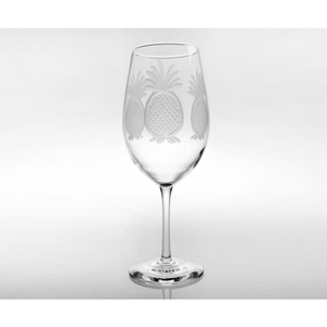 Pineapple Large AP Wine Glass 18oz Set of 4