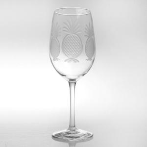 Pineapple White Wine Glass 12oz Set of 4