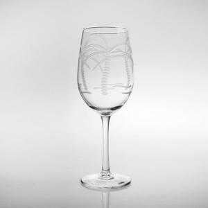 Palm Tree White Wine 12oz Set Of 4