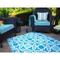 Seville Multicolor Blue Indoor Outdoor Rug