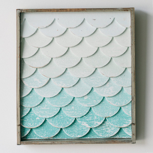 Mermaid Tail Scales Art- Small