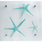 Starfish Teal Zoom Lucite Art