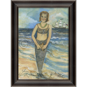 She was The Star Fish Mermaid Framed Art