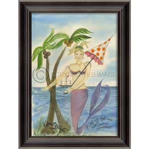 The Captains Sweetheart Mermaid Framed Art