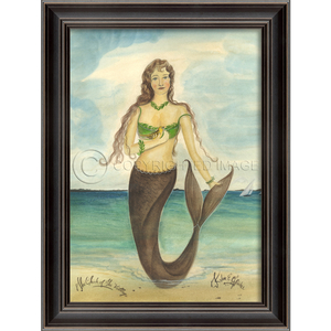 The Chick of the Village Mermaid Framed Art