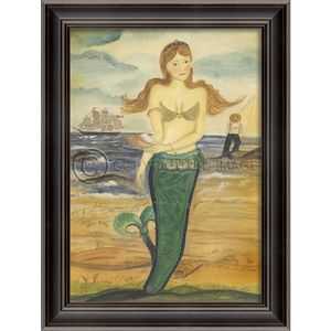 The Story of Esther Island Mermaid Framed Art