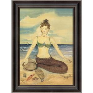 Zen Mermaid Framed Art