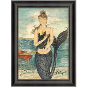 Mermaid From Pocomoke Framed Art