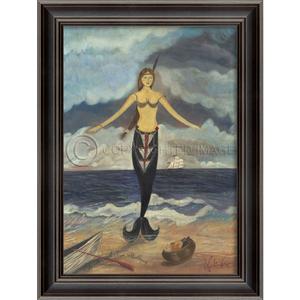 Mermaid From Maddequet Framed Art