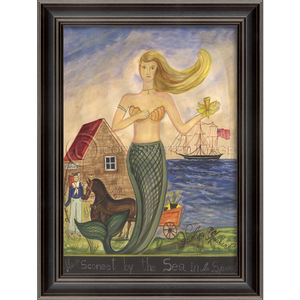 Sconset By The Sea Mermaid Framed Art