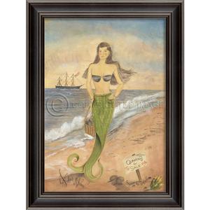 Sunrise on Surfside Mermaid Framed Art
