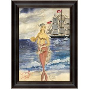 Gift From Afar Mermaid Framed Art