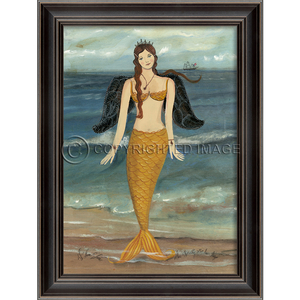 Mermaid Angel Framed Art