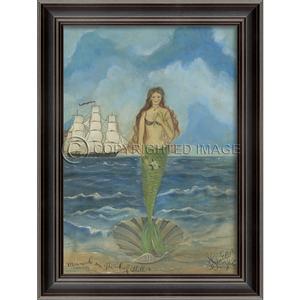 Mermaid on the Half Shell Framed Art