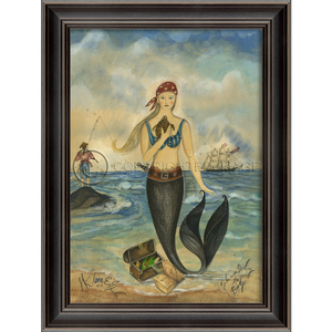 Pirate Mermaid Framed Art