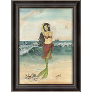 The Star of the Beach Mermaid Framed Art