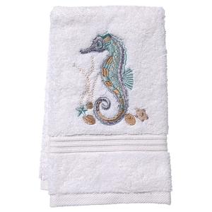 """Seahorse (Aqua) Terry Towel 12""""x19"""""""