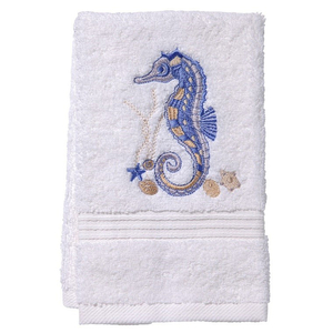 "Seahorse (Blue) Terry Towel 12""x19"""