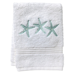 "Three Starfish (Aqua) Terry Towel 12""x19"""