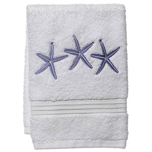 "Three Starfish (Blue) Terry Towel 12""x19"""