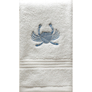 "Blue Crab Terry Towel 12""x19"""