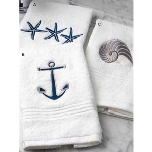 "Nautical Terry Towel 12""x19"""