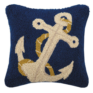 "Anchor 14x14"" Hook Pillow"