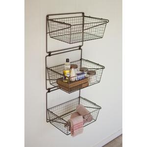 Three Tiered Wall Storage Baskets