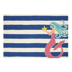 Mermaid Striped Hook Rug  2X3 FT