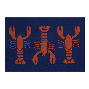 Hot Lobster Hook Rug 27X40""