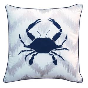 Modern Crab Ikat Pillow - Outdoor Sunbrella®