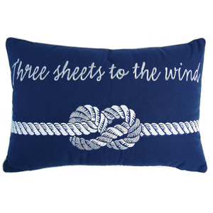 Nautical Idiom Pillow - Outdoor Sunbrella®
