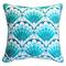 Scallop Shell Pattern Pillow - Outdoor Sunbrella®
