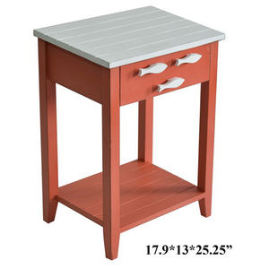 Coco Beach Accent Table with Fish