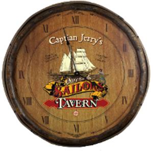 Quarter Barrel  Personalized Clock