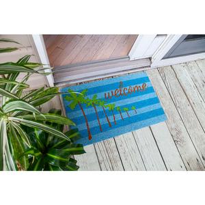 Palm Welcome Coir Doormat