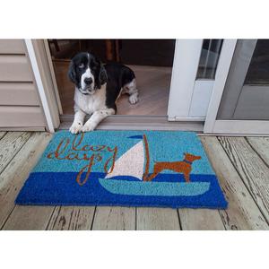 Lazy Days Handwoven Coconut Fiber Doormat
