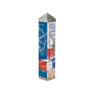 "Nautical Buoys  20"" Art Pole"