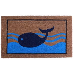 Blue Whale Vinyl Back Door Mat