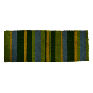 "Green Stripes Vinyl Back Door Mat  18""x48"""