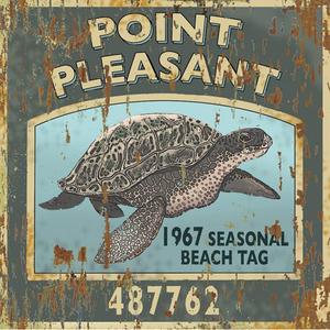 Turtle Beach Tag Wood Art 12x12